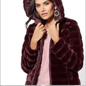 NY&C faux fur coat
